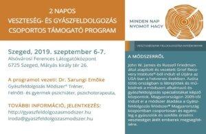 2 napos veszteség- és gyászfeldolgozás csoportos támogató program @ Szeged | Makó | Magyarország